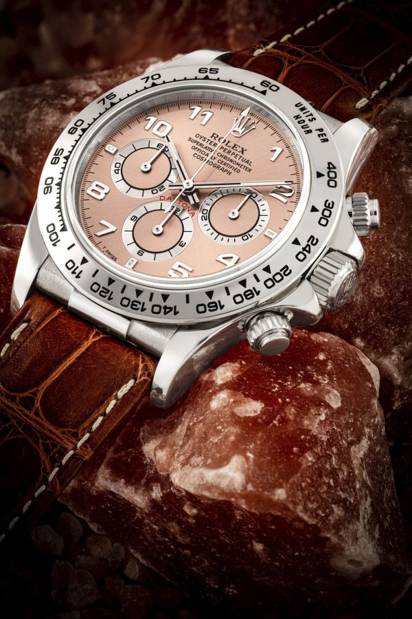 Rolex Daytona ref. 16519 in white gold with salmon dial