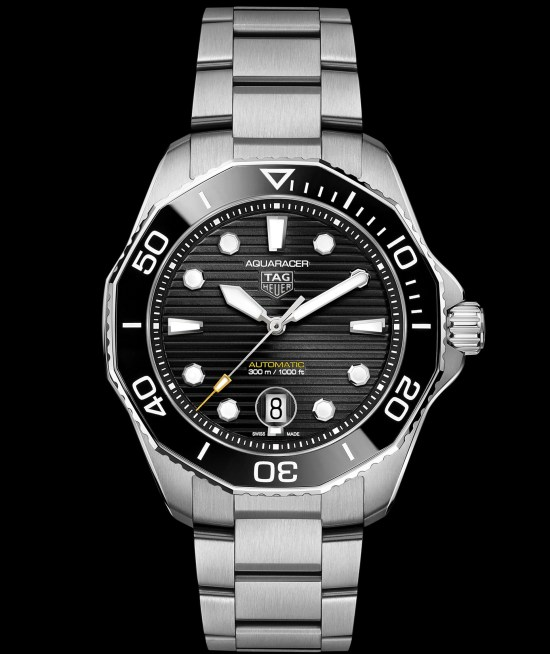 TAG Heuer Aquaracer Professional 300 Calibre 5 Automatic with black sunray-brushed dial
