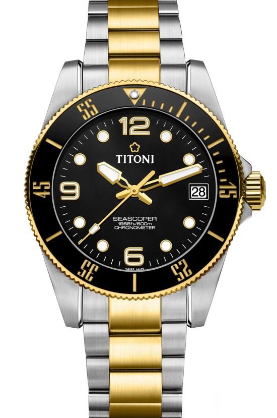 TITONI Seascoper 600 diving watch bi-color version