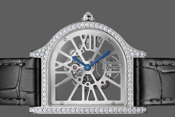 The Cloche De Cartier Skeleton Watch diamond set platinum case