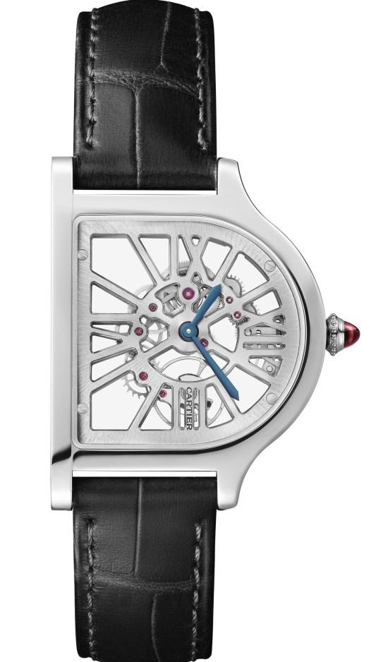 The Cloche De Cartier Skeleton Watch Platinum case