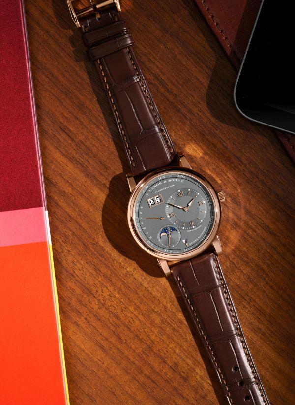 A. Lange & Sohne LANGE 1 Perpetual Calendar watch pink gold model