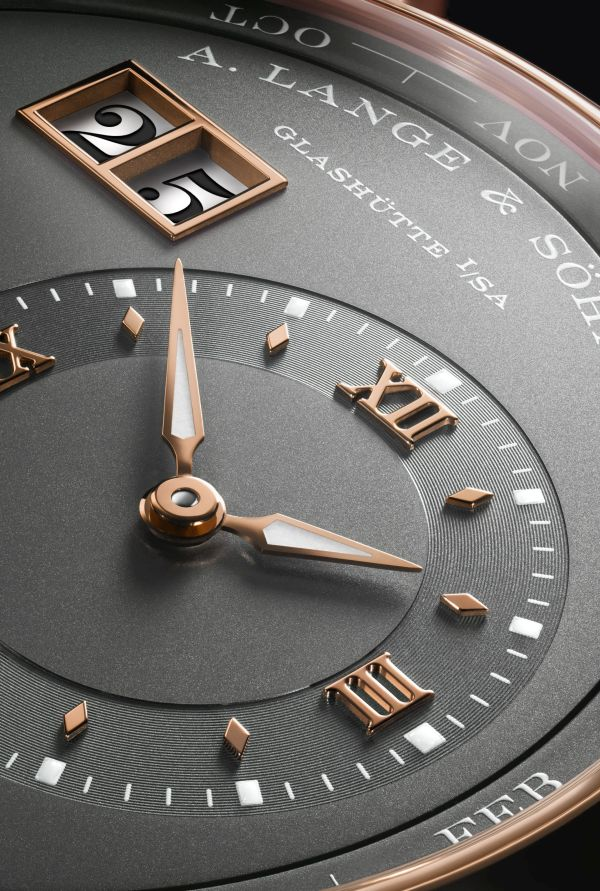 A. Lange & Sohne LANGE 1 Perpetual Calendar watch pink gold model outsize date