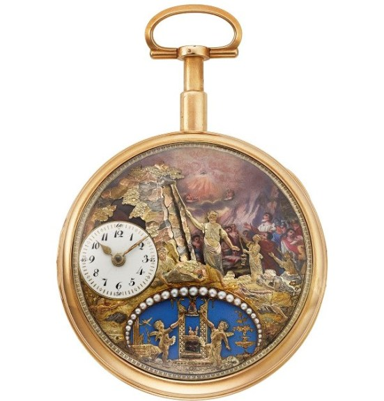 Charles Ducommun 'Moses' automaton pocket watch