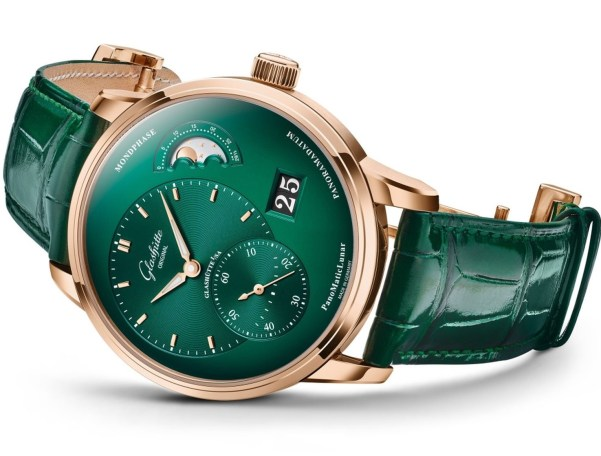 Glashütte Original PanoMaticLunar New Red Gold Version with Green Dial