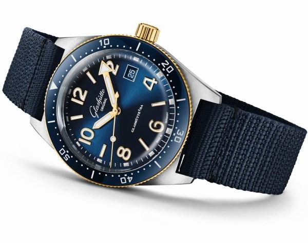 Glashütte Original SeaQ Bicolor diving watch 200 meters water resistance