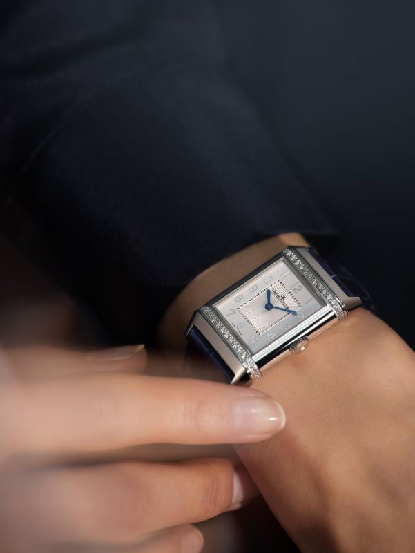 Jaeger-LeCoultre Reverso Duetto Medium watch wrist on