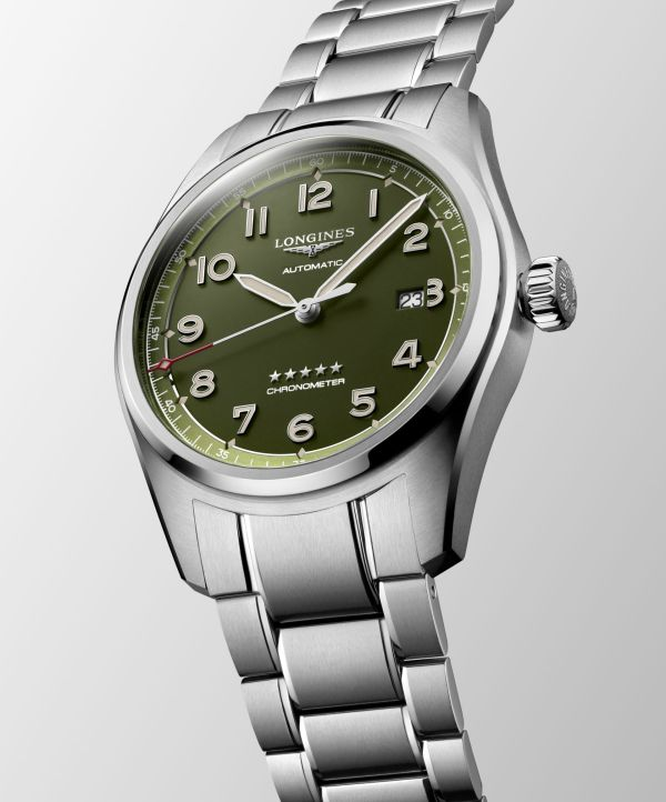 Longines Spirit Green dial automatic watch