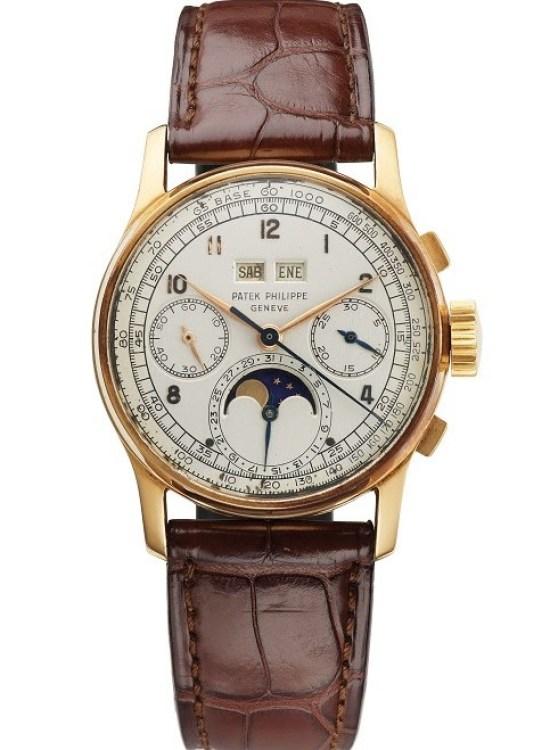 Patek Philippe reference 1518 rolse gold watch sold by Venezuelan retailer Serpico Y Laino