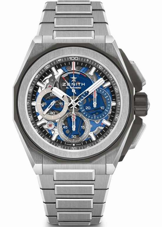 Zenith DEFY EXTREME Chronograph with Brushed, polished and microblasted titanium case and bracelet