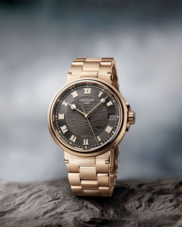 Breguet Marine 5517, 18-carat rose gold version with Slate gray engine-turned dial