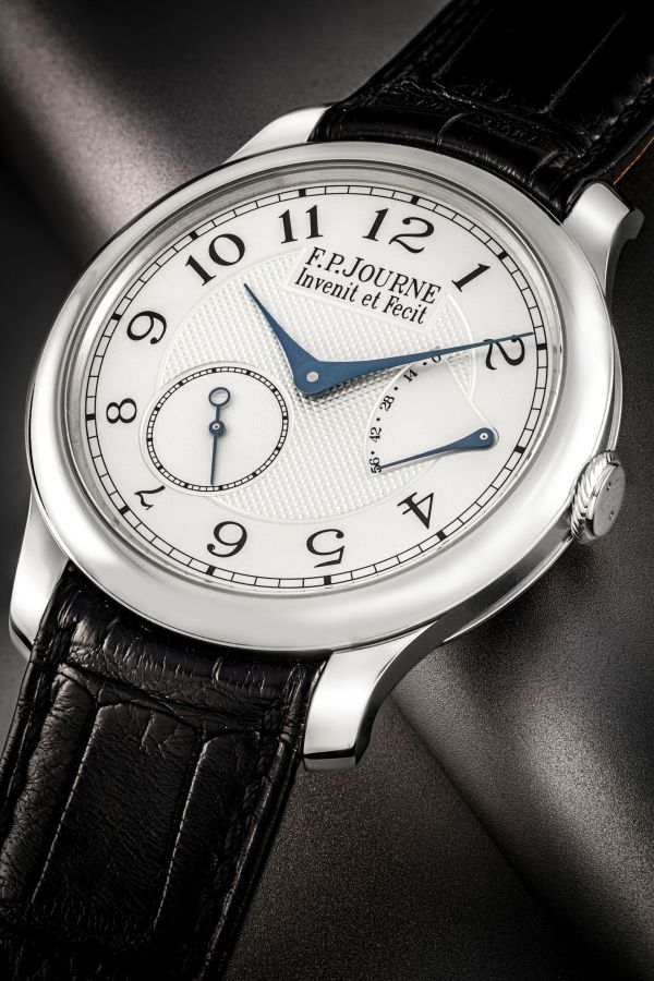 F.P. Journe platinum wristwatch with power reserve, made and presented to pay tribute to George Daniel, Chronometre Souverain model, circa 2010