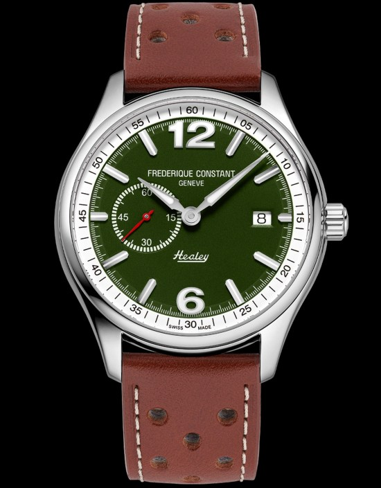 Frederique Constant Vintage Rally Healey Automatic Small Seconds watch with British racing green dial