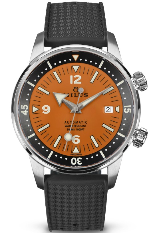 Archimèdes by Milus Orange Coral Limited Edition diving watch