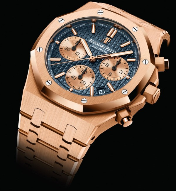 Audemars Piguet Royal Oak Self-winding Chronograph 41mm, New Generation Model with Pink Gold Case and Manufacture Calibre 4401