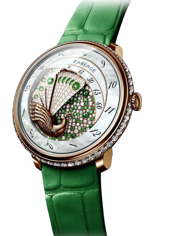 Fabergé Lady Compliquée Peacock Emerald watch