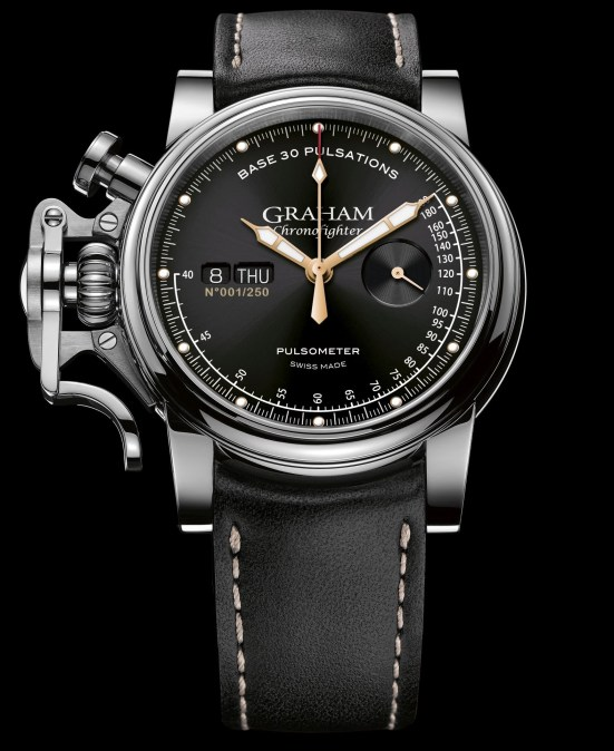 Graham Chronofighter Vintage Pulsometer Ltd watch with black dial