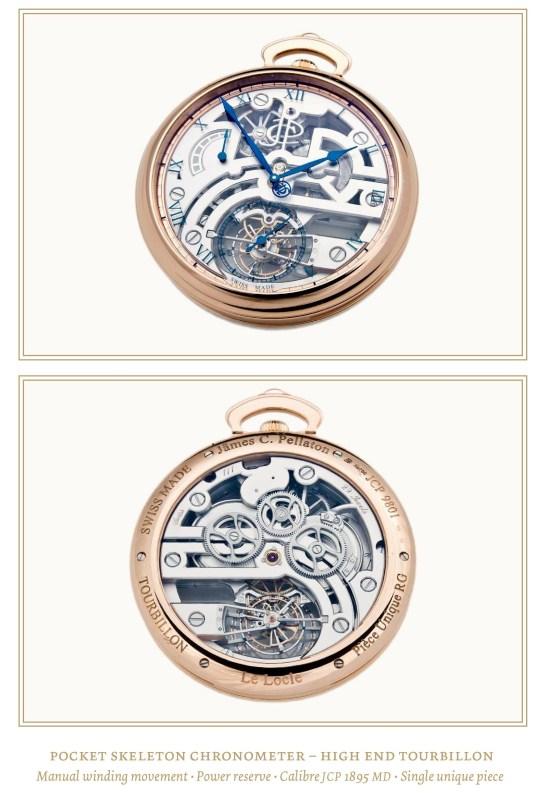 Jämes C. Pellaton Pocket Skeleton Chronometer Tourbillon