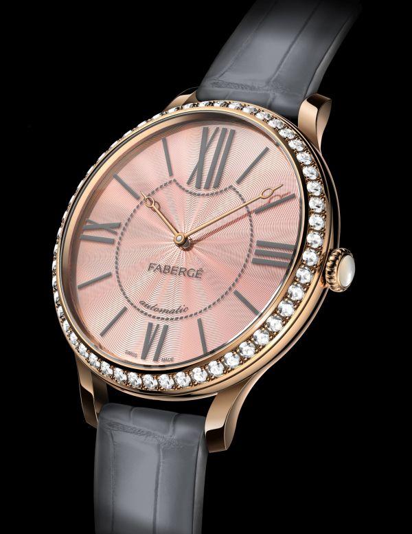Lady Fabergé 39 mm watch with diamond set rose gold case