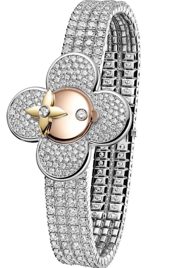 Louis Vuitton Vivienne Bijou Secret watch with diamond set bracelet