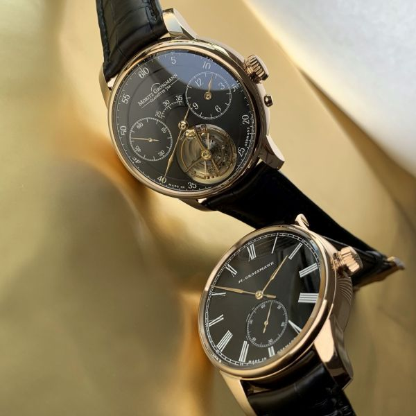 Moritz Grossmann Limited Edition HAMATIC Vintage and Benu TOURBILLON Models with Gold Hands