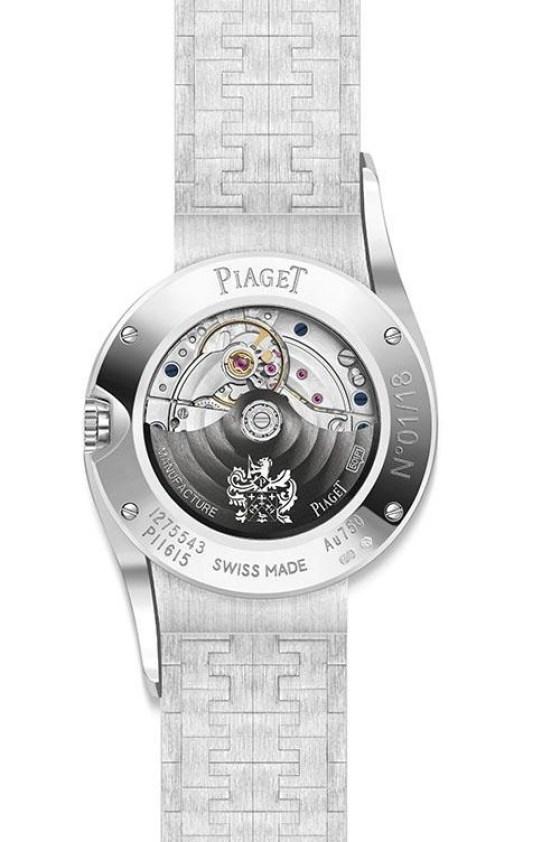 Piaget Limelight Gala Precious Sunrise watch case back view