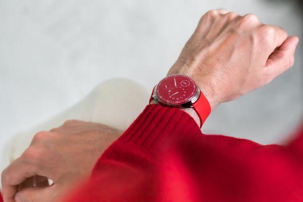 Ressence Type 1 Slim Red watch wrist shot
