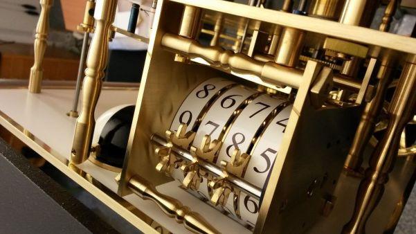 Secular Perpetual Calendar Clock by Mario Scarpatetti