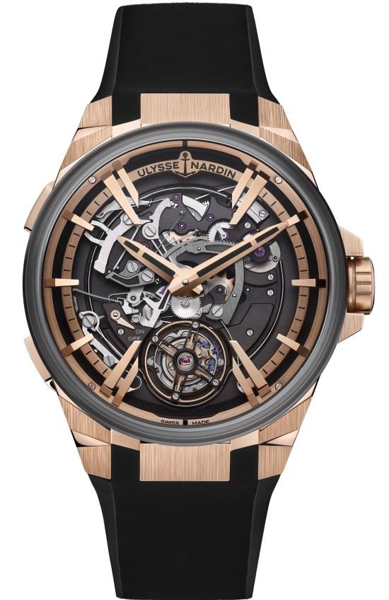 Ulysse Nardin Blast Hourstriker watch with rose gold case