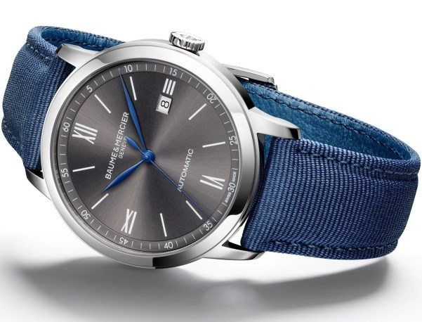 Baume & Mercier Classima, reference 10608 New Model with Slate Gray Dial 42mm