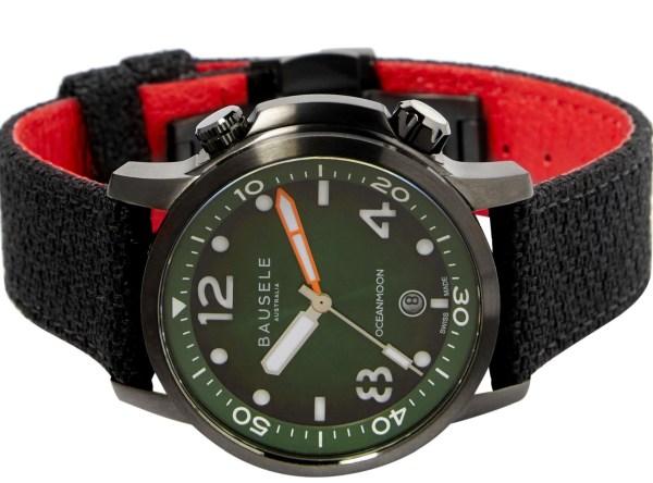 Bausele Ocean Moon IV watch with green dial