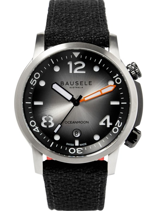 Bausele Ocean Moon IV watch silver degrade dial