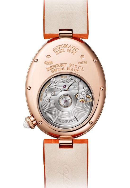 Breguet Reine De Naples 8938 red gold watch movement view