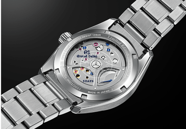 Grand Seiko Heritage Watch with Blue Wave Pattern Dial, Seiko 140th Anniversary Limited Edition