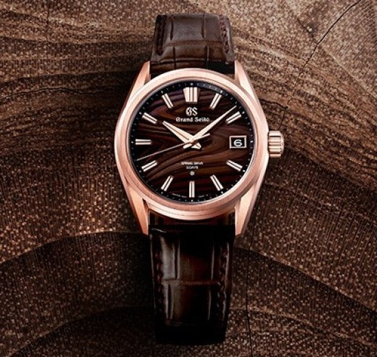 Grand Seiko Heritage Watch with Tree-Rings Dial (reference SLGA008), Seiko 140th Anniversary Limited Edition