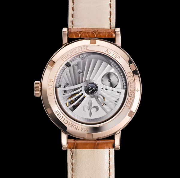 Pequignet Attitude Gold Limited Edition watch movement