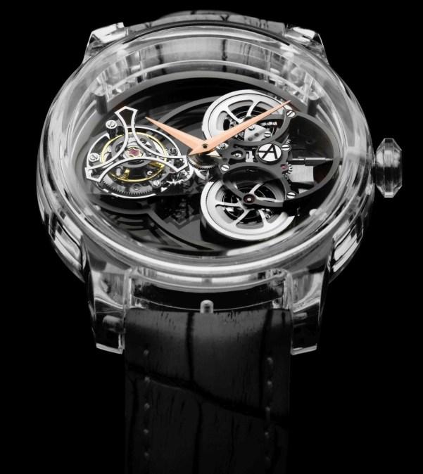 ArtyA Purity Tourbillon watch with sapphire case