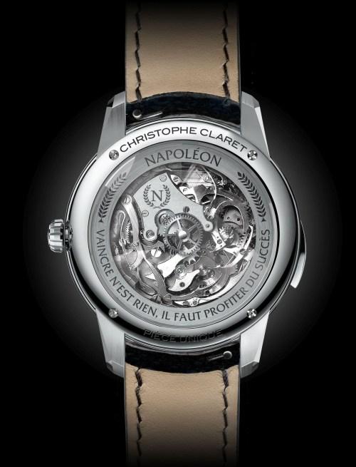 Christophe Claret Napoleon titanium case back