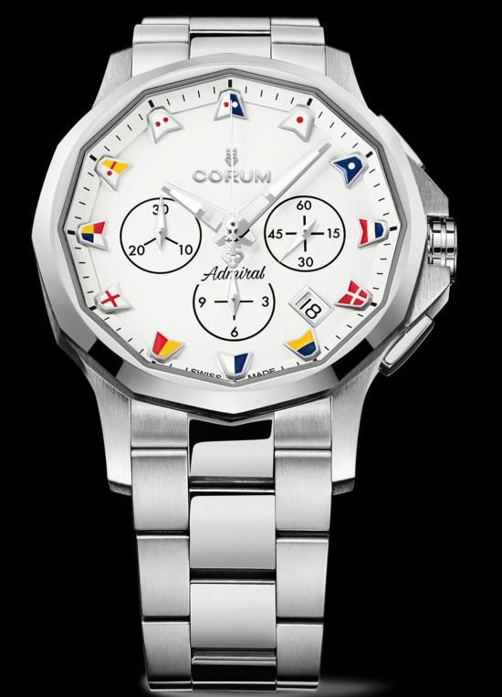Corum Admiral 42 Chronograph New Models white dial 2021