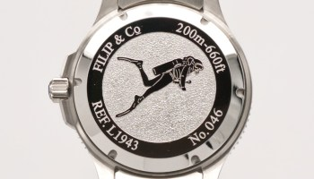 Filip & Co DIVER 55 watch case back
