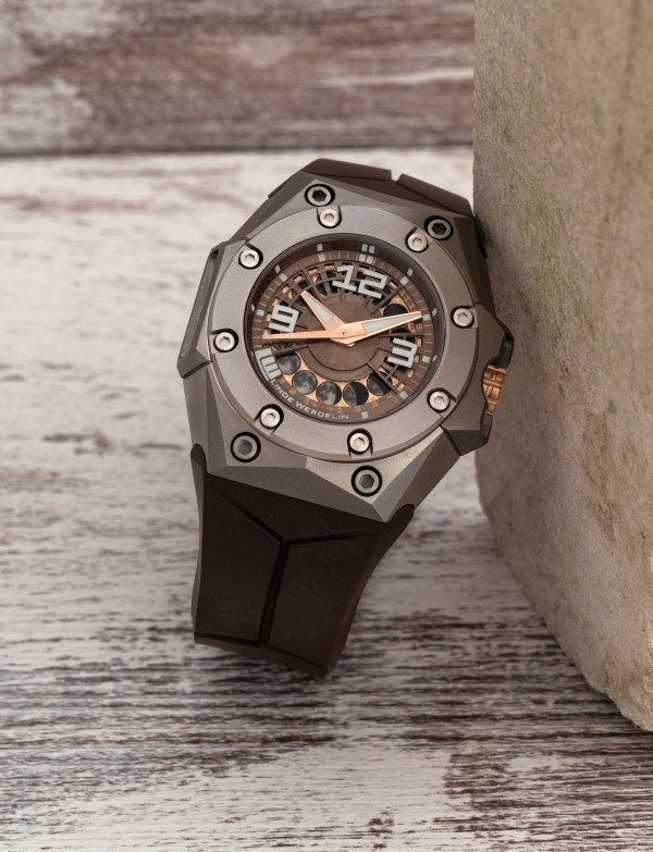 Linde Werdelin Oktopus Moon, New Titanium Model with Bronze and Gold Dial