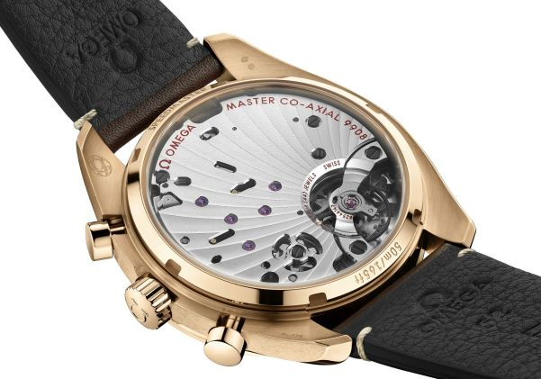 OMEGA Speedmaster Chronoscope bronze gold case back