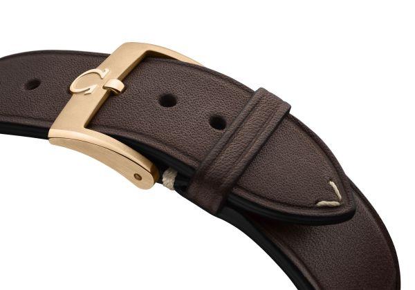 OMEGA Speedmaster Chronoscope bronze gold leather strap