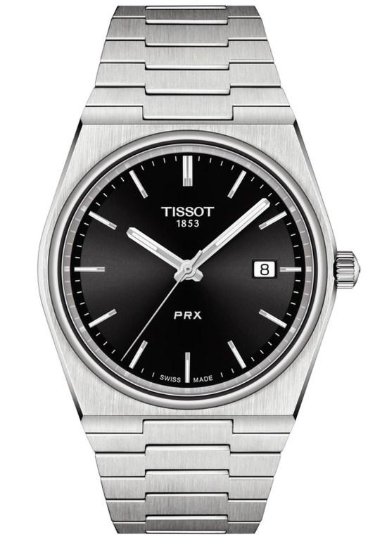 Tissot PRX Quartz watch with black dial