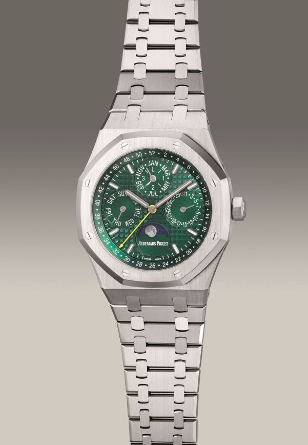 Audemars Piguet Ref. 26606ST.OO.1220ST.01 limited edition stainless steel perpetual calendar wristwatch with leap year indication, moon phases, circa 2018. Estimate: HK$800,000 - 1,600,000.
