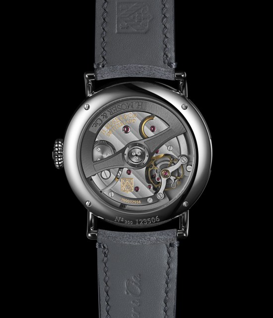 H. Moser & Cie. Dual Time Heritage, Steel Version with a Burgundy Fumé Dial