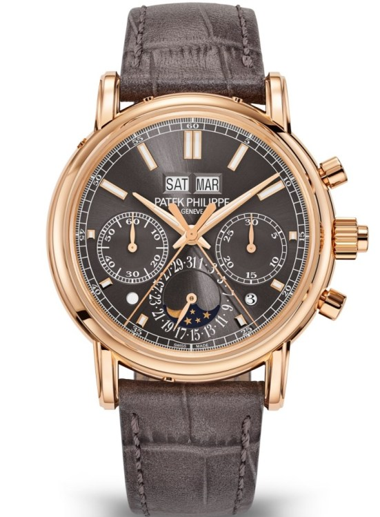 Patek Philippe Reference 5204R-011: Split-seconds Chronograph and Perpetual Calendar with Rose Gold Case and Slate Gray Dial