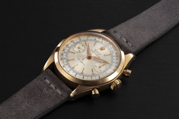 Lot 83: ROLEX REF. 6232, A PINK GOLD ANTIMAGNETIC CHRONOGRAPH