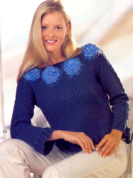 зимние вязаные крючком свитера для девушек фото - Купальники