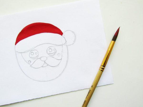 Как красиво нарисовать Деда Мороза